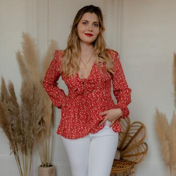 Textiel Dames Tops / Blousjes Céleste ROSSIGNOL Rood / Multicolour
