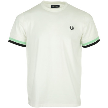 Textiel Heren T-shirts korte mouwen Fred Perry Bold Tipped Tee Shirt Wit