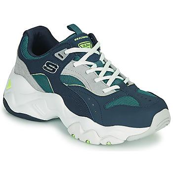 Schoenen Dames Lage sneakers Skechers D'LITES 3.0/OCEAN CLOUD Marine