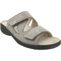 Schoenen Dames Leren slippers Mobils By Mephisto Geva Taupe