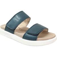Schoenen Dames Leren slippers Romika Westland Albi 03 Blauw
