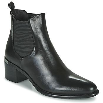 Schoenen Dames Enkellaarzen Adige DIVA V1 VEAU GARNET NOIR Zwart
