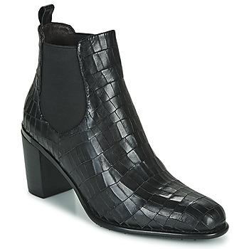 Schoenen Dames Enkellaarzen Adige FANNY V5 CROCO NOIR Zwart