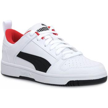 Schoenen Jongens Lage sneakers Puma 01 REBOUND LAYUP LO SL V PS Bianco
