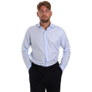 Textiel Heren Overhemden lange mouwen Les Copains 000.058 P3196SL Blauw