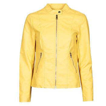 Textiel Dames Leren jas / kunstleren jas Only ONLMELISA Geel