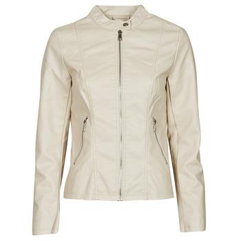 Textiel Dames Leren jas / kunstleren jas Only ONLMELISA Beige