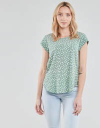 Textiel Dames Tops / Blousjes Only ONLVIC Groen / Wit
