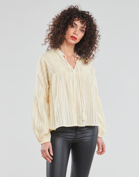 Textiel Dames Tops / Blousjes Only ONLNEW ELISA Beige