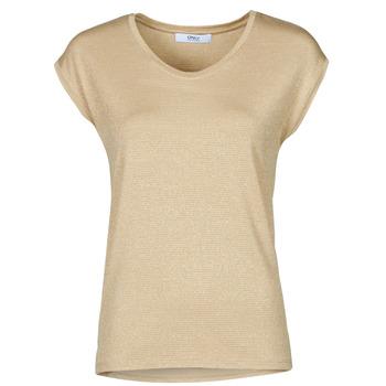 Textiel Dames Tops / Blousjes Only ONLHARPER Beige