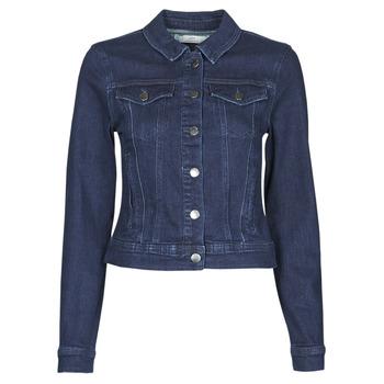 Textiel Dames Spijker jassen JDY JDYNEWWINNER STR JACKET BOX DNM NOOS Blauw / Medium