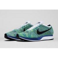 Schoenen Lage sneakers Nike Flyknit Racer Green Strike White/Game Royal/Green Strike/Black