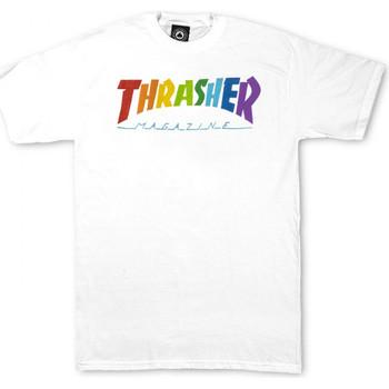 Textiel Heren T-shirts korte mouwen Thrasher T-shirt rainbow mag ss Wit