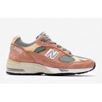 Schoenen Lage sneakers New Balance 991 x Patta Dusty Pink/Light Petrol