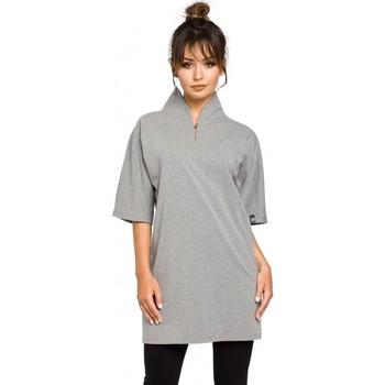 Textiel Dames Tunieken Be B043 Kimono tuniek - grijs