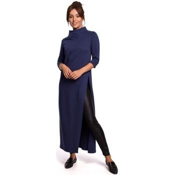 Textiel Dames Tunieken Be B163 Tuniek met hoge split - blauw