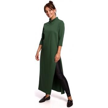 Textiel Dames Tunieken Be B163 Tuniek met hoge split - gazongroen