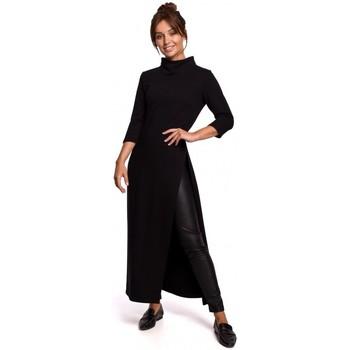 Textiel Dames Tunieken Be B163 Tuniek met hoge split - zwart