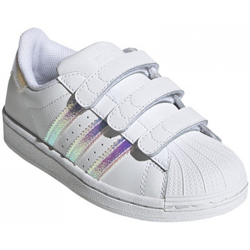 Schoenen Kinderen Lage sneakers adidas Originals Superstar cf c Wit