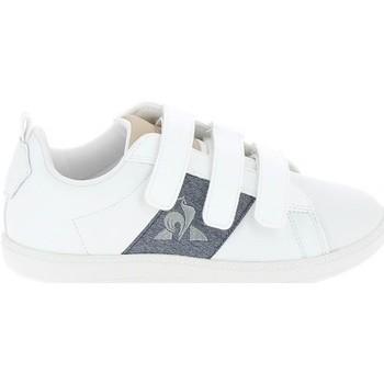Schoenen Lage sneakers Le Coq Sportif Courtclassic PS Blanc Bleu Wit