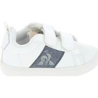 Schoenen Lage sneakers Le Coq Sportif Courtclassic BB Blanc Bleu Wit
