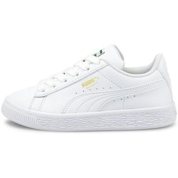 Schoenen Kinderen Lage sneakers Puma Basket classic xxi ps Wit