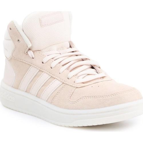 Schoenen Dames Hoge sneakers adidas Originals Adidas Hoops 2.0 MID EE7894 beige