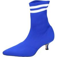 Schoenen Dames Enkellaarzen Olga Rubini Stivaletti Tessuto Blu