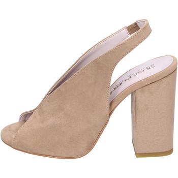 Schoenen Dames Sandalen / Open schoenen Olga Rubini Sandali Camoscio sintetico Beige