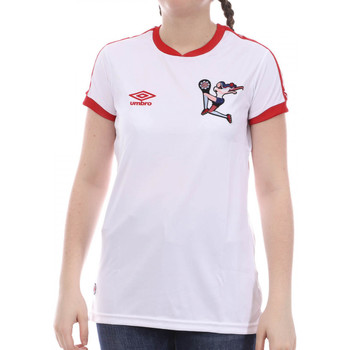 Textiel Meisjes T-shirts korte mouwen Umbro  Wit