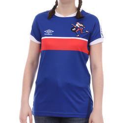 Textiel Meisjes T-shirts korte mouwen Umbro  Blauw