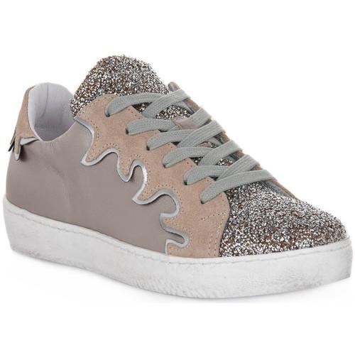 Schoenen Dames Lage sneakers At Go GO GLITTER FIESTA Beige