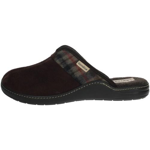 Schoenen Heren Leren slippers Uomodue PANNO  SCOZZESE-64 Brown
