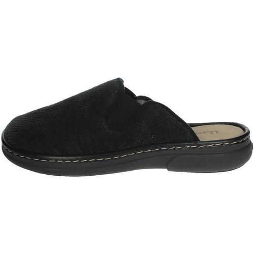 Schoenen Heren Leren slippers Uomodue MICRO PUNTATO-31 Black