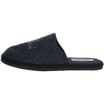 Schoenen Heren Leren slippers Uomodue LOGO-12 Blue