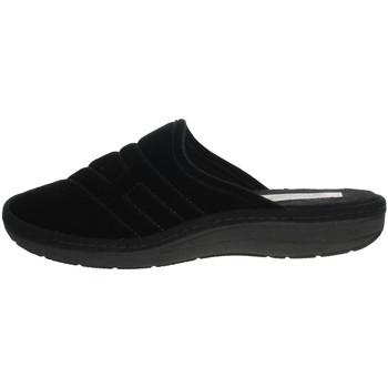 Schoenen Heren Leren slippers Uomodue FELTRO FONT-39 Black