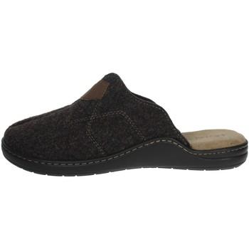 Schoenen Heren Leren slippers Uomodue ALCANTA-3 Brown
