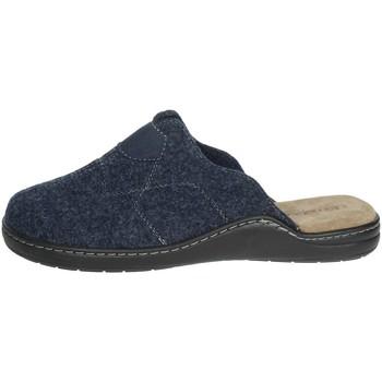 Schoenen Heren Leren slippers Uomodue ALCANTA-1 Blue