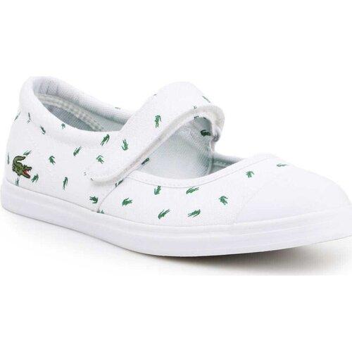Schoenen Dames Ballerina's Lacoste 7-31SPJ00361R5 white, green