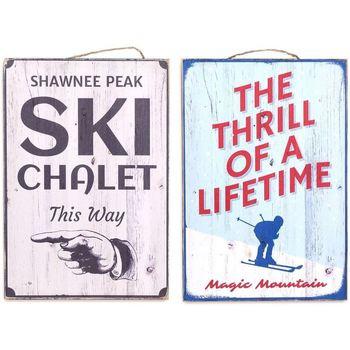 Wonen Schilderijen Signes Grimalt Skiwandplaat Set 2 He Multicolor