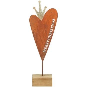 Wonen Kerst decoraties Signes Grimalt Heart Wood Base Multicolor