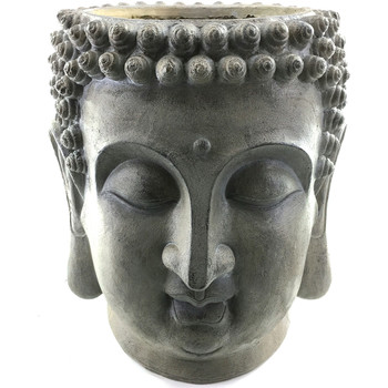 Wonen Beeldjes  Signes Grimalt Boeddha Hoofd Standaard Gris