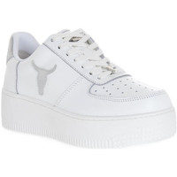 Schoenen Dames Sneakers Windsor Smith RICH BRAVE WHITE SILVER PERLISHED Bianco