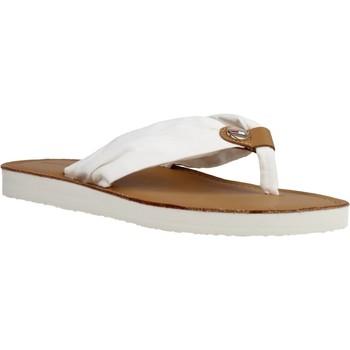 Schoenen Dames Sandalen / Open schoenen Tommy Hilfiger LEATHER FOOTBED BEACH SA Wit