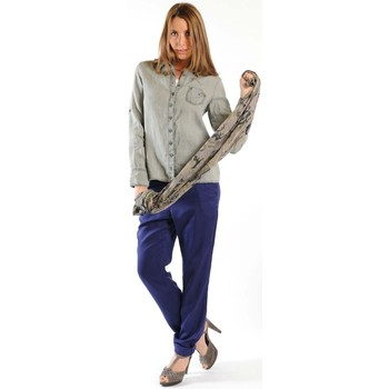 Textiel Dames Overhemden lange mouwen Sud Express CHEMISE CATI BRONZE Goud