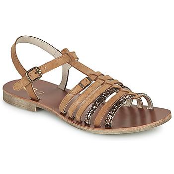Schoenen Meisjes Sandalen / Open schoenen GBB BANGKOK Bruin