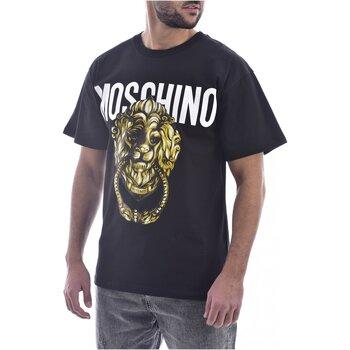 Textiel Heren T-shirts korte mouwen Moschino ZA0716 Zwart
