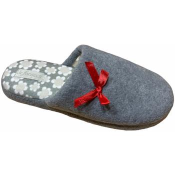 Schoenen Dames Leren slippers De Fonseca DEFONROMAgrigiofiore grigio