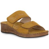 Schoenen Dames Leren slippers Grunland GIALLO 80PALO Giallo