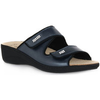 Schoenen Dames Leren slippers Grunland BLU 68ESTA Blu